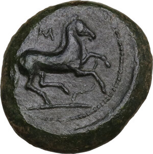 reverse: Aitna. AE 19.5 mm, c. 355-339 BC