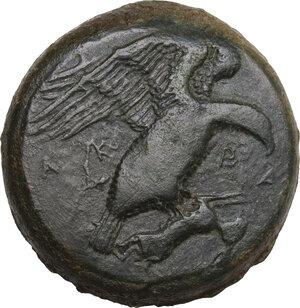 obverse: Akragas. AE Hemilitron-Hexonkion, c. 420-406 BC