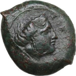 obverse: Alaisa Archonidea. Timoleon's Symmachy. AE 33 mm, c. 344-339/8 BC