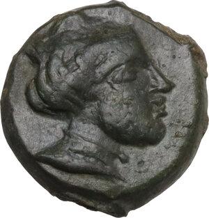 obverse: Eryx. AE Onkia (?), c. 330-260 BC