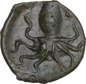 reverse: Eryx. AE Onkia (?), c. 330-260 BC