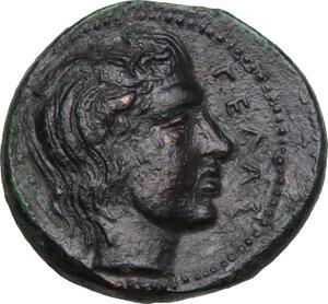 reverse: Gela. AE Tetras-Trionkion, c. 420-405 BC