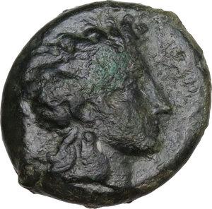obverse: Henna. AE Hexas, c. 357-354 BC