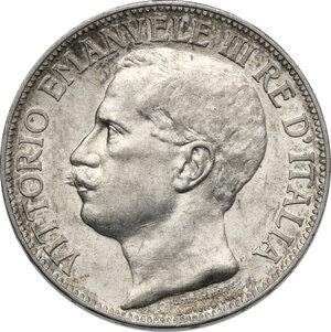 obverse: Vittorio Emanuele III (1900-1943). 2 lire 1911