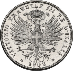 obverse: Vittorio Emanuele III (1900-1943). 25 centesimi 1902