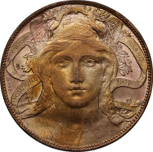 obverse: Vittorio Emanuele III (1900-1943). 20 centesimi 1906 Esposizione di Milano