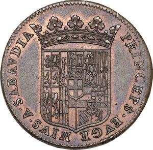 obverse: Eugenio Maurizio (1633-1673). Gettone 1656
