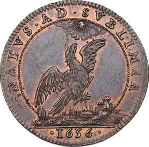 reverse: Eugenio Maurizio (1633-1673). Gettone 1656