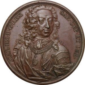 obverse: Carlo Emanuele III (1730-1773). Medaglia 1739