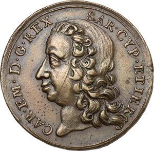 obverse: Carlo Emanuele III (1730-1773). Medaglia per la liberazione di Alessandria, 1746
