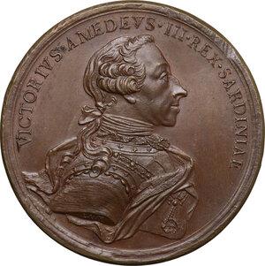 obverse: Vittorio Amedeo III (1773-1796). Medaglia 1775 per le nozze del figlio Carlo Emanuele IV con Maria Clotilde di Borbone