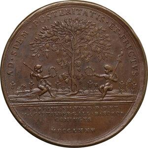 reverse: Vittorio Amedeo III (1773-1796). Medaglia 1775 per le nozze del figlio Carlo Emanuele IV con Maria Clotilde di Borbone