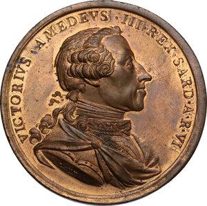 obverse: Vittorio Amedeo III (1773-1796). Medaglia s.d. (1778) per la Reale Accademia di Pittura e Scultura e destinata agli artisti dell Accademia del Nudo