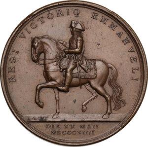 obverse: Vittorio Emanuele I (1802-1821). Medaglia 1814 saluto della Guardia Nobile torinese