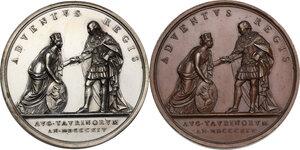 reverse: Vittorio Emanuele I (1802-1821). Coppia di medaglie 1814 per il ritorno del Re a Torino