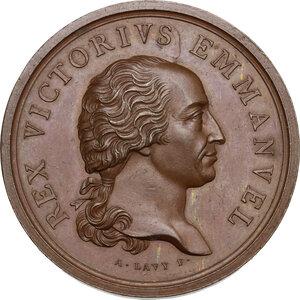 obverse: Vittorio Emanuele I (1802-1821). Medaglia s.d. emessa tra il 1819 e il 1821 per il vaccino anti-vaiolo