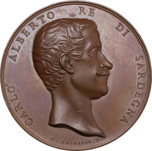 obverse: Carlo Alberto (1831-1849). Medaglia 1847
