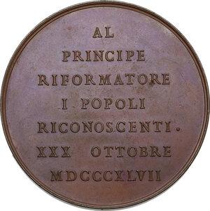 reverse: Carlo Alberto (1831-1849). Medaglia 1847