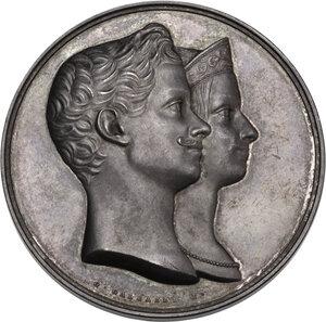 obverse: Regnando Carlo Alberto (1831-1849). Vittorio Emanuele II (1820-1878). Medaglia per le nozze con Maria Adelaide, 1842