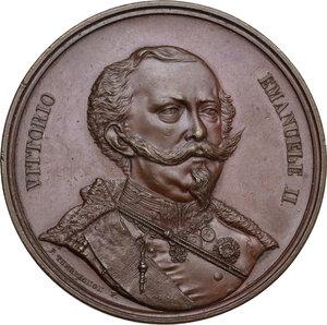 obverse: Vittorio Emanuele II (1820-1878). Medaglia 1849 per il Giuramento