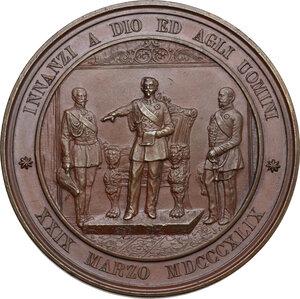 reverse: Vittorio Emanuele II (1820-1878). Medaglia 1849 per il Giuramento