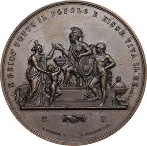 obverse: Vittorio Emanuele II (1820-1878). Medaglia 1859 per l annessione della Toscana al Regno d Italia