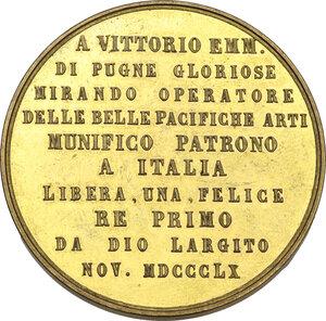 reverse: Vittorio Emanuele II (1861-1878). Medaglia 1860