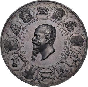 obverse: Vittorio Emanuele II (1820-1878). Medaglia 1861 per la Prima Esposizione Italia di Firenze