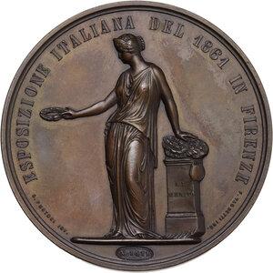 reverse: Vittorio Emanuele II (1820-1878). Medaglia al merito per l Esposizione di Firenze del 1861