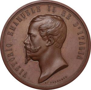 obverse: Vittorio Emanuele II (1820-1878). Medaglia 1862