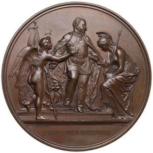 obverse: Vittorio Emanuele II (1861-1878). Medaglia 1871 per la proclamazione e il trasferimento a Roma della capitale d Italia