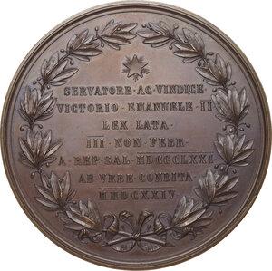 reverse: Vittorio Emanuele II (1861-1878). Medaglia 1871 per la proclamazione e il trasferimento a Roma della capitale d Italia