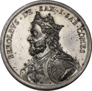 obverse: Regnando Vittorio Emanuele II (1861-1878). Beroldo (998-1026), Primo Conte di Savoia. Medaglia di restituzione