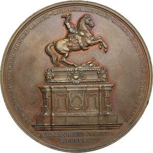 reverse: Regnando Vittorio Emanuele II (1849-1861). Eugenio (1663-1736). Medaglia 1865 per l inaugurazione del monumento equestre di Eugenio di Savoia a Vienna
