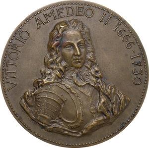 obverse: Regnando Vittorio Emanuele II (1861-1878). Vittorio Amedeo II (1666-1730). Medaglia celebrativa s.d. (1875)
