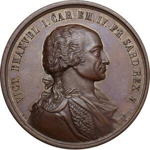 obverse: Regnando Vittorio Emanuele II (1861-1878). Vittorio Emanuele I (1802-1821). Medaglia di restituzione s.d. (1864/65) della Serie celebrativa della Real Casa Savoia