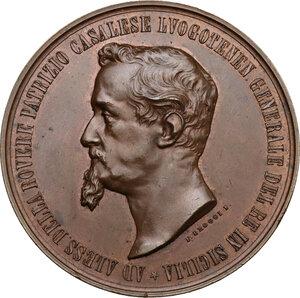 obverse: Regnando Vittorio Emanuele II (1861-1878). Alessandro della Rovere (1815-1864). Medaglia 1861