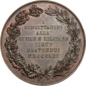 reverse: Regnando Vittorio Emanuele II (1861-1878). Alessandro della Rovere (1815-1864). Medaglia 1861