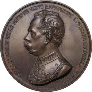 obverse: Umberto I (1844-1900). Medaglia 1884
