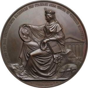 reverse: Umberto I (1844-1900). Medaglia 1884