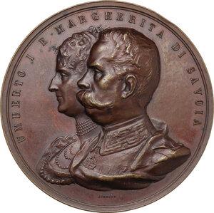 obverse: Umberto I (1844-1900). Medaglia 1893 per il XXV anniversario delle nozze