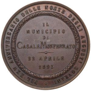 reverse: Umberto I (1844-1900). Medaglia 1893 per il XXV anniversario delle nozze