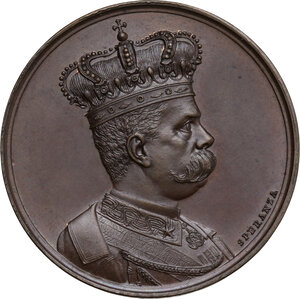 obverse: Umberto I (1844-1900). Medaglia a ricordo delle Campagne d Africa