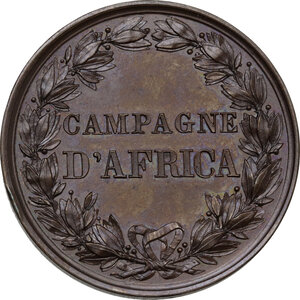 reverse: Umberto I (1844-1900). Medaglia a ricordo delle Campagne d Africa