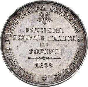 reverse: Umberto I (1844-1900). Medaglia 1898