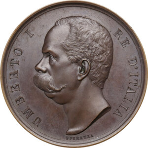 obverse: Umberto I (1844-1900). Medaglia 1899