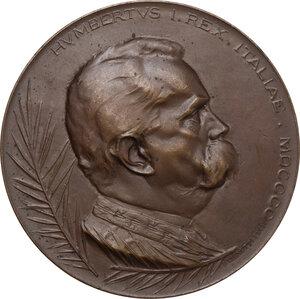 obverse: Umberto I (1844-1900). Medaglia 1900 per la morte