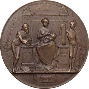 reverse: Umberto I (1844-1900). Medaglia 1900 per la morte