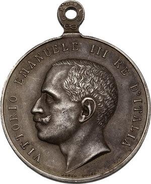 obverse: Vittorio Emanuele III (1869-1943). Medaglia Ricordo della Real Casa, I tipo