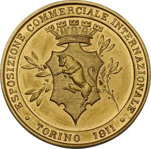 reverse: Vittorio Emanuele III (1869-1943). Medaglia 1911 per l Esposizione Commerciale Internazionale di Torino